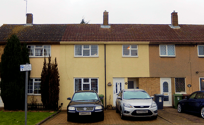 Terraced homes near Potters Bar